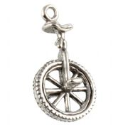 Unicycle 3D Sterling Silver Charms